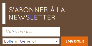 formulaire d'inscription à la newsletter
